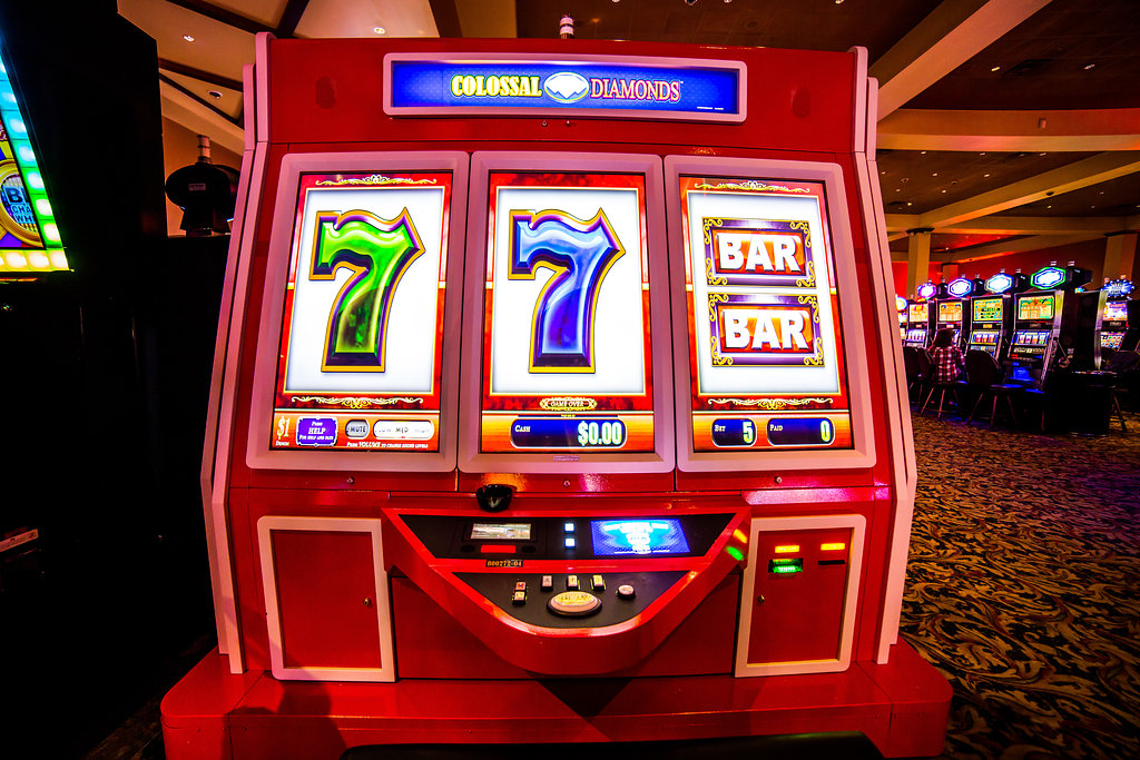 large red slot machine