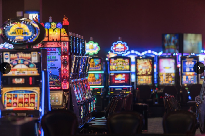 color slot machines in a casino